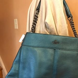 Brand new Metallic coach bag